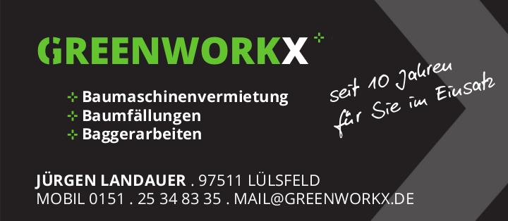 10 Jahre Greenworkx Mietmaschinen für Bau, Wald und Garten